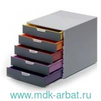 Файл-кабинет«Varicolor»5 ящиков серый : арт. 7605 27 (ТМ Durable)