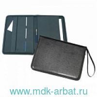 Папка деловая формата А4 «Люкс» с петлёй для руки, материал - кожезаменитель, цвет - черный :  арт. 6Д041 (ТМ «Канцбург»)