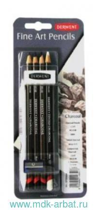 Карандаши угольные 4штуки «Charcoal» блистер : арт.D-0700664 (ТМ Derwent)