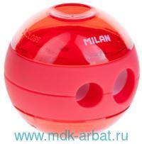 Точилка «Sphere» 2 отверстия, с контейнером, пластик, в ассортименте : Арт.20156212/973100 (ТМ Milan)