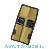 Пенал для карандашей 12штук липучка, ткань : арт.D-2300219 (ТМ Derwent)