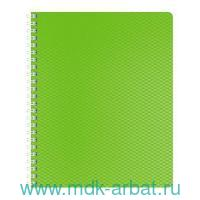 Тетрадь А5 80 листов клетка «DiamondНЕОН» пластик, на спирали, зеленая : Арт.80Т5В1гр_02034 (ТМ Hatber)