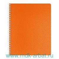 Тетрадь А5 80 листов клетка «DiamondНЕОН» пластик, на спирали,оранжевая : Арт.80Т5В1гр_02035 (ТМ Hatber)