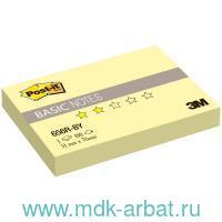 Бумага для заметок 51х76мм 100 листов «Post-it» желтая : Арт.656R-BY (ТМ 3M.)