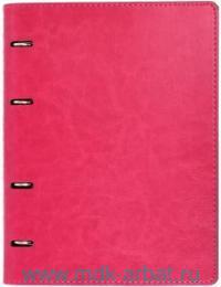 Тетрадь со сменным блоком А5 80 листов «Сариф» к/з, малиново-серая : Арт.37929 (ТМ Феникс+)