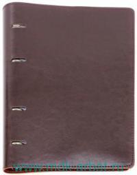 Тетрадь со сменным блоком А5 80 листов «Сариф» к/з, с/т коричневая : Арт.37930 (ТМ Феникс+)