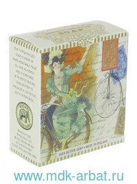 Мыло : размер 7х7х3 см «Дама на велосипеде» : арт. SOAM057 (ТМ «Michel Design Works»)