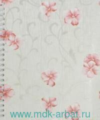Тетрадь А5 100 листов клетка «Цветочный узор» на гребне : Арт.37795 (ТМ Феникс+)