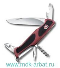 Нож перочинный «RangerGrip 68» 11функций красно-черный : арт.0.9553.С (ТМ Victorinox)