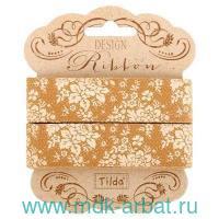 Лента декоративная : размер 20ммх3м, 2 штуки, материал - хлопок : арт.481103 (ТМ «Tilda»)