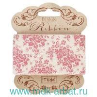 Лента декоративная : размер 20ммх3м, 2 штуки, материал - хлопок : арт.481104 (ТМ «Tilda»)