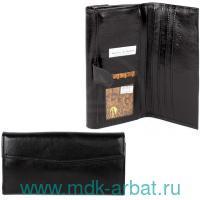 Портмоне : материал орфей натуральная кожа, цвет - черный : арт. 604Л/150