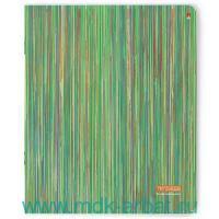Тетрадь А5 96 листов клетка «Полоски» мелованный картон, фольга, скрепка : Арт.7-96-112/1 (ТМ Альт)