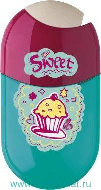 Точилка «Sweet» 2 отверстия + ластик, с контейнером : Арт.183528 (ТМ Faber Castell)
