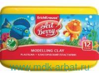 Пластилин 12 цветов «Artberry» с Алоэ Вера в (в пластиковом боксе) : артикул 41768 (ТМ Erich Krause)