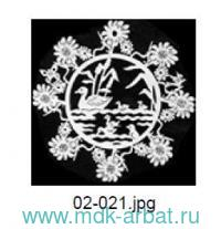 Украшение«Снежинка.Утка с утятами»дер. Арт.02-021