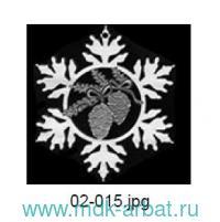 Украшение«Снежинка.Две шишечки»дер. Арт.02-015