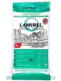 Салфетки чистящие для экранов 24шт. антибактериальные : Арт.LA-21617 (ТМ Lamirel)