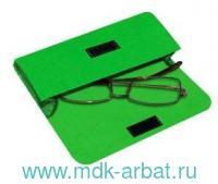 Чехол для очков на липучке : материал - фетр, цвет - зеленый (ТМ «IQ Format»)
