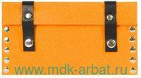 Клатч на клепках : материал - фетр, цвет - оранжевый (ТМ «IQ Format»)