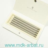 Карандаши запасные 5 штук Perfect Pencil Guilloche с резьбой кедр, цвет серый : Арт.118640 (ТМ Graf von Faber-Castell)