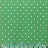 Ткань 48х50см «Горошек 2мм» светло-зеленая : арт.АМ556007 (ТМ Кустарь)