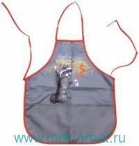Фартук для труда и рисования «Енот» 2 кармана : Арт.43290 (ТМ Феникс+)