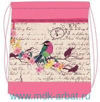 Сумка-рюкзак для обуви 35х43см «Bird» : Арт.336-91/559 (ТМ Belmil)