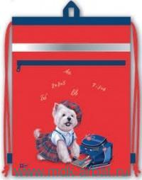 Мешок для обуви 36х48см «Собачка-ученица» : Арт.43317 (ТМ Феникс+)