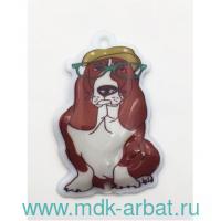 Брелок-фонарик : размер 4.5х6.9см «Собака в кепке» : арт. 44387 (ТМ «Феникс-Презент»)