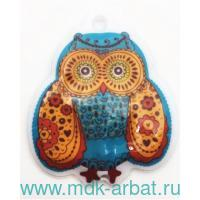 Брелок-фонарик : размер 5.2х6.1см «Сова» : цвет - бирюзовый, материал - ПВХ арт.44374 (ТМ «Феникс-Презент»)