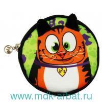 Кошелек : размер 11х11х1,5см «Котик» с внутренним карманом, цвет - зеленый : арт. 313-8-15-003 (ТМ «Ir's»)