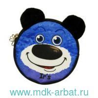 Кошелек : размер 11х11х1,5см «Миша» с внутренним карманом, цвет - синий : арт. 313-8-15-008 (ТМ «Ir's»)
