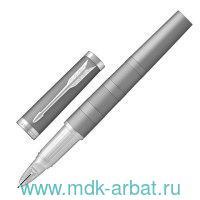 Ручка «Пятый пишущий узел» PARKER «Ingenuity Deluxe Chrome Coloured CT» (хромированные детали), корпус серебристый : Арт.1931472 (ТМ Parker)