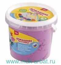 Песок для лепки 1 кг. «Домашняя песочница» розовый : артикул Дп-014 (ТМ LORI)