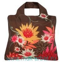Сумка «Bloom Bag 3» : принт - цветы, цвет - коричневый : арт. BL.B3 (ТМ «Envirosax»)