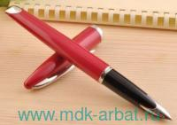 Ручка перьевая «Carene Glossy Red» : красный глянцевый корпус из латуни, серебристые детали : арт. S0839580 (ТМ «Waterman»)