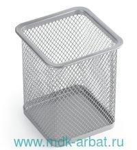 Подставка-органайзер «Germanium» металлическая, серебристая : Арт.231939 (ТМ Brauberg)