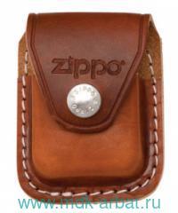 Чехол Zippo для заж, кожа коричн. Арт.LPCB