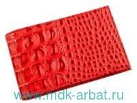 Визитница карманная на 40 визиток «Кайман» : материал - натуральная кожа, цвет - красный : арт. V.30.-13.красный (ТМ «Befler»)