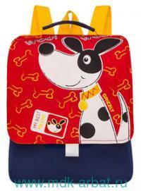 Рюкзак детский 25х30х11см, красно-синий. Арт.RS-891-2 (ТМ GRIZZLY)