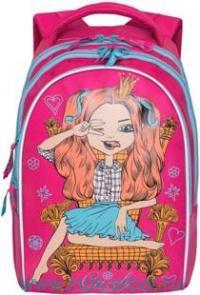 Рюкзак 28х41х20см розовый : арт.RG-768-2 (ТМ Grizzly)