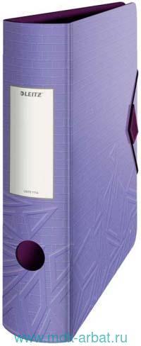 Папка-регистратор «UrbanChic» : формат А4, 82 мм, фиолетовая : арт.1116-00-65/673600 (ТМ Leitz)