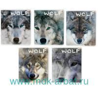 Тетрадь А5 48 листов, клетка «Волки» скрепка : Арт.7-48-596 (ТМ Альт)