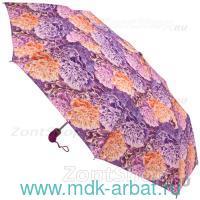 Зонт женский «Цветы» 3 сложения, автомат : арт. 23972 (ТМ «Zest»)