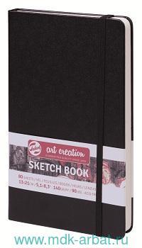 Скетчбук 13х21см 80л «Art Creaion» черный, переплет твердый : Арт.9314002М
