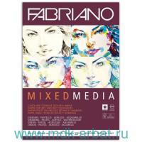 Альбом для рисования формата А3, 40 листов плотностью 250 г/м2 «Mixed Media» вертикальный, брошюровка - склейка : арт. 19100382 (ТМ «Fabriano»)