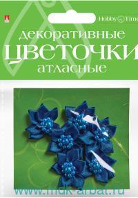 Цветочки декоративные, 6 штук, материал - атлас, цвет - в ассортименте : арт.2-399/01 (ТМ «Hobby Time»)