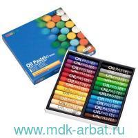 Пастель масляная 24 цвета круглая картонная коробка : арт.MOP24 (ТМ MUNGYO)