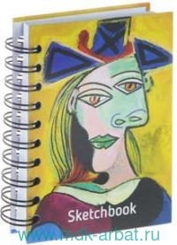 Скетчбук А6 100л.«Пикассо.Голова»греб. Арт.01672